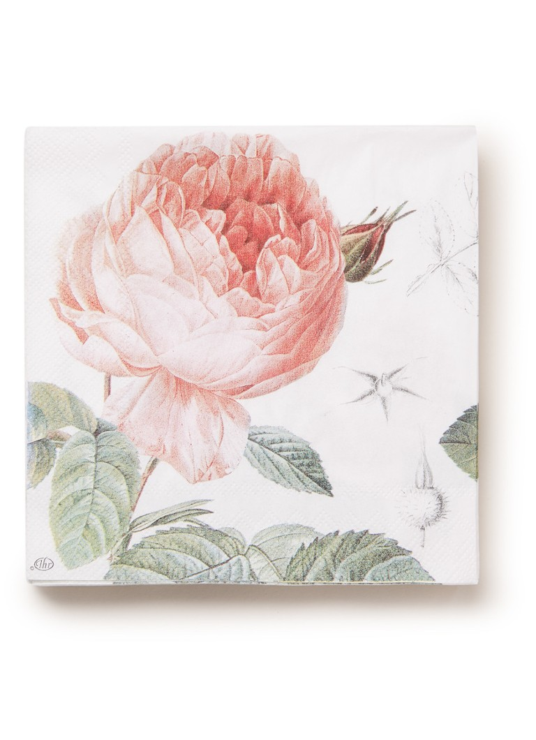 Ihr Ideal Home - Elisabeth servetten 33 x 33 cm - Roze