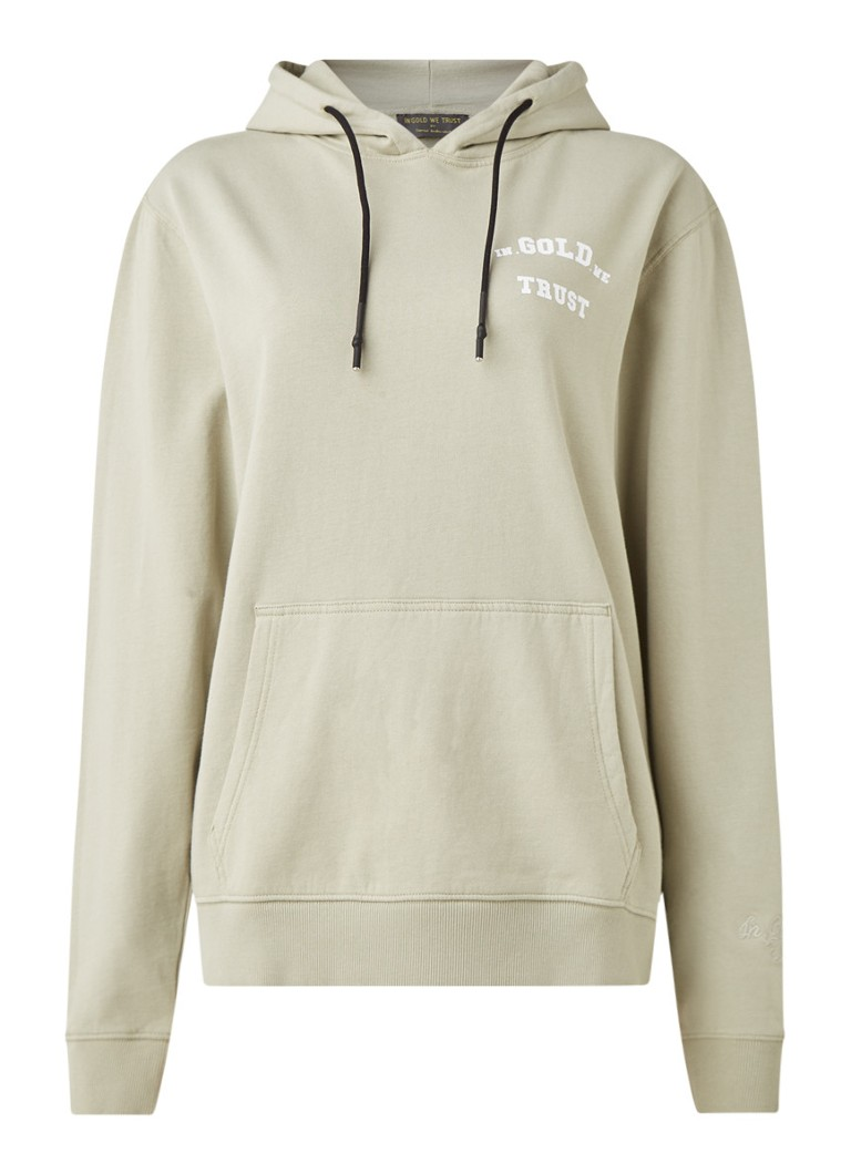 In Gold We Trust - The Notorious hoodie met logoprint - Lindegroen