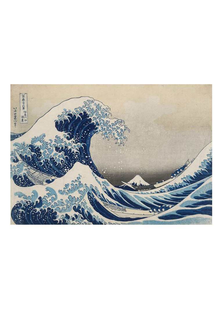 IXXI - The Great Wave wanddecoratie - Lichtblauw