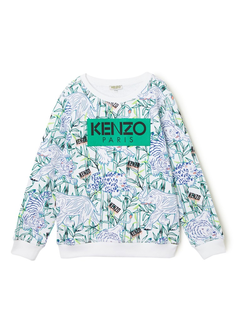 KENZO KIDS - Jake sweater met merkembleem - Wit