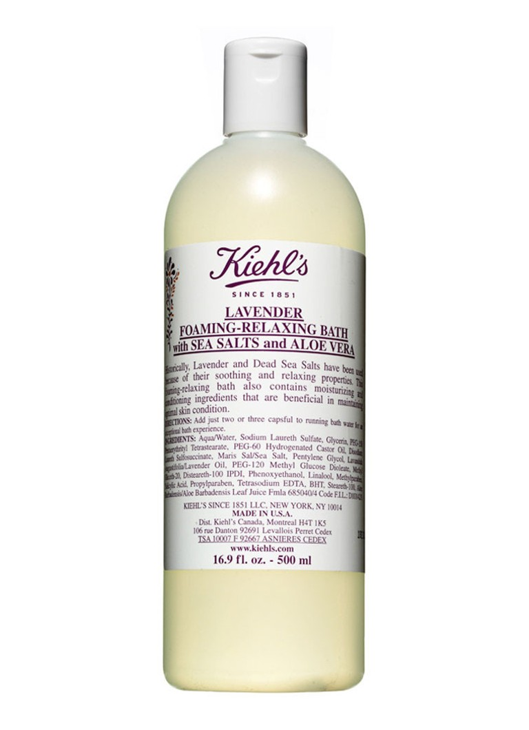 Kiehl's - Lavender Foaming-Relaxing Bath with Sea Salts and Aloe Vera - badschuim -