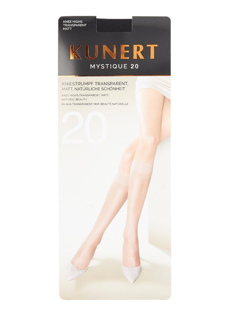Kunert - Mystique pantykousen in 20 denier black - Zwart