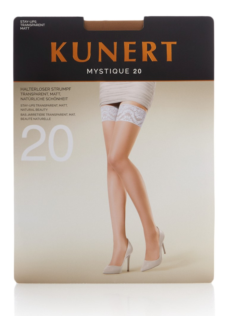 Kunert - Mystique stay-ups in 20 denier huid - Naturel