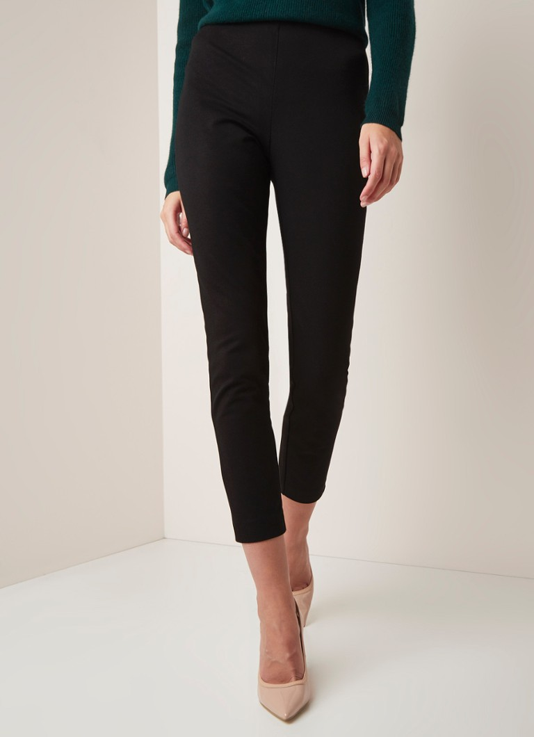 L.K.Bennett - Eden high waist slim fit legging in katoenblend - Zwart
