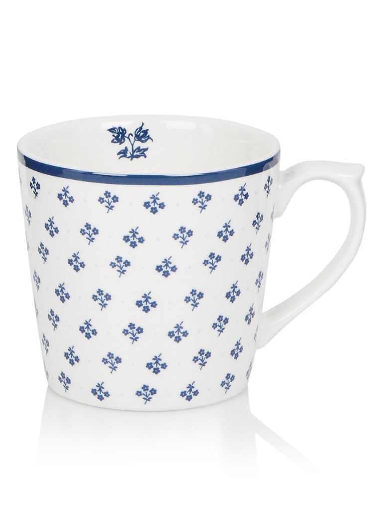 Laura Ashley - Fleur kopje 22 cl - Royalblauw