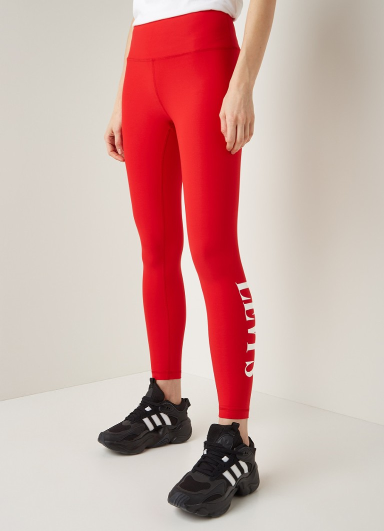 Levi's - Bril trainingslegging met logoprint - Rood