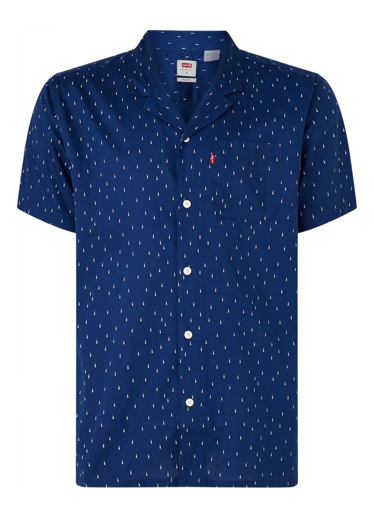 Levi's - Camper regular fit overhemd met all over print - Royalblauw