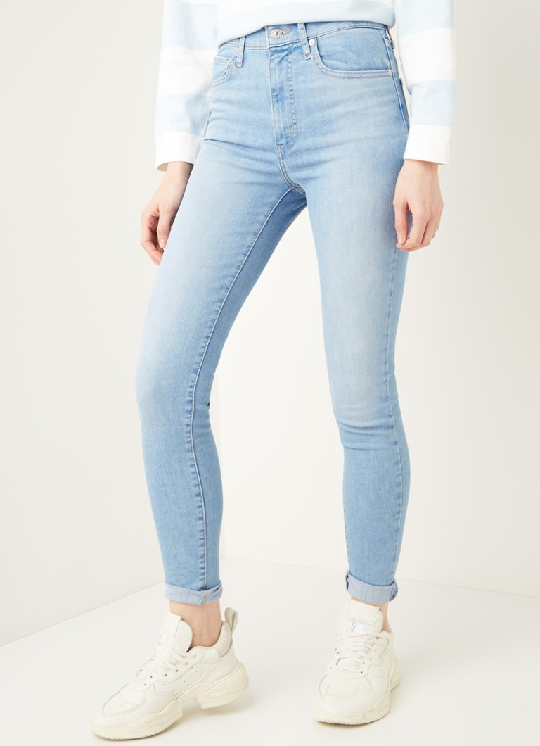 Levi's - Mile High high waist skinny fit jeans met stretch - Indigo
