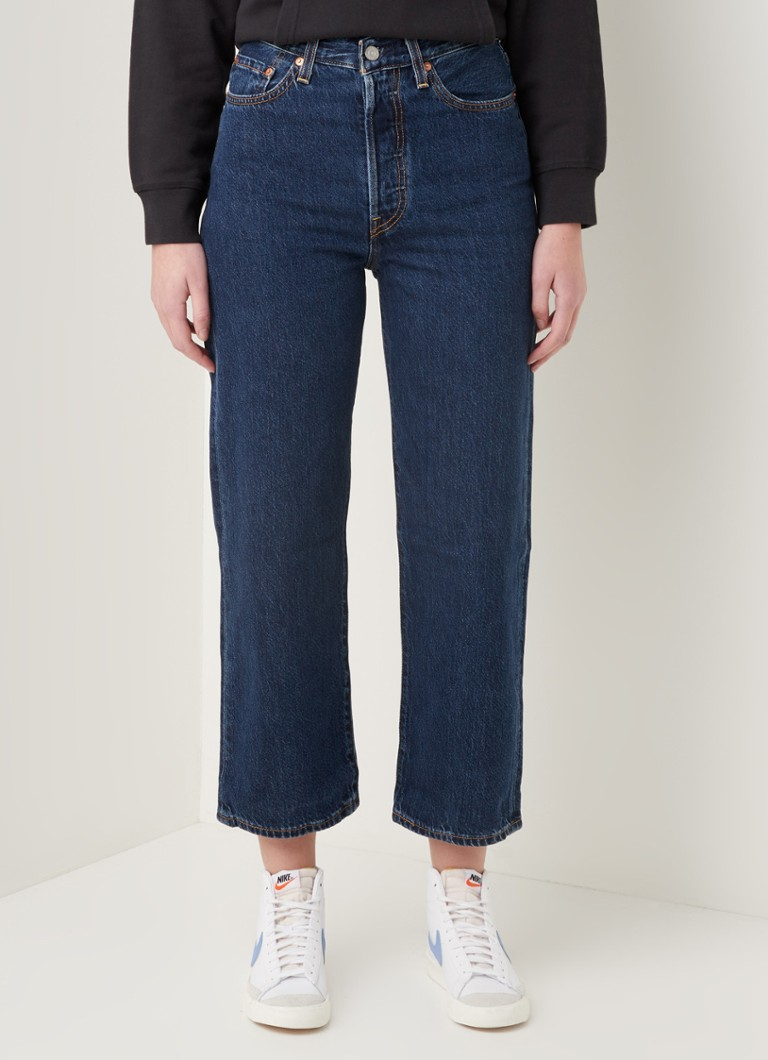 Levi's - Ribcage high waist straight fit cropped jeans in lyocellblend - Indigo