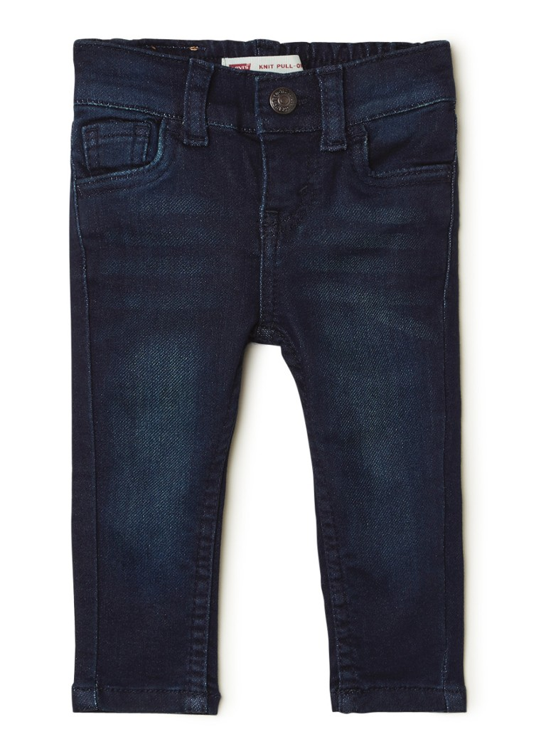 Levi's - Skinny fit jeans met donkere wassing - Indigo