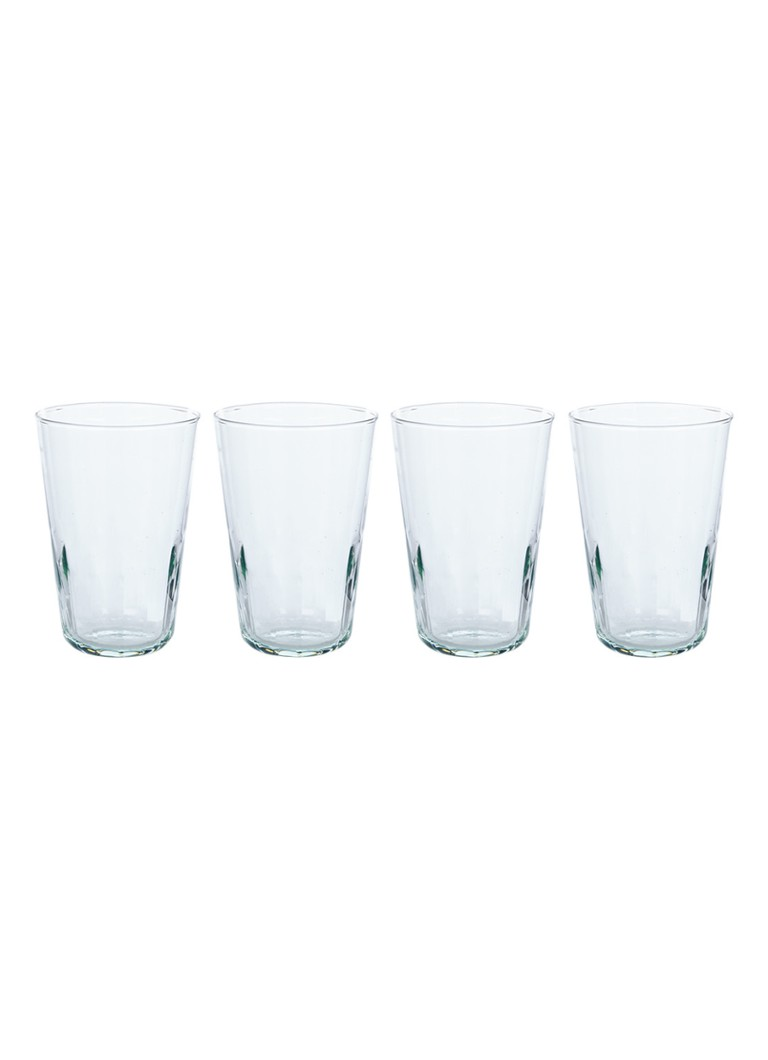 LSA International - Mia longdrinkglas set van 4 - Lichtgroen
