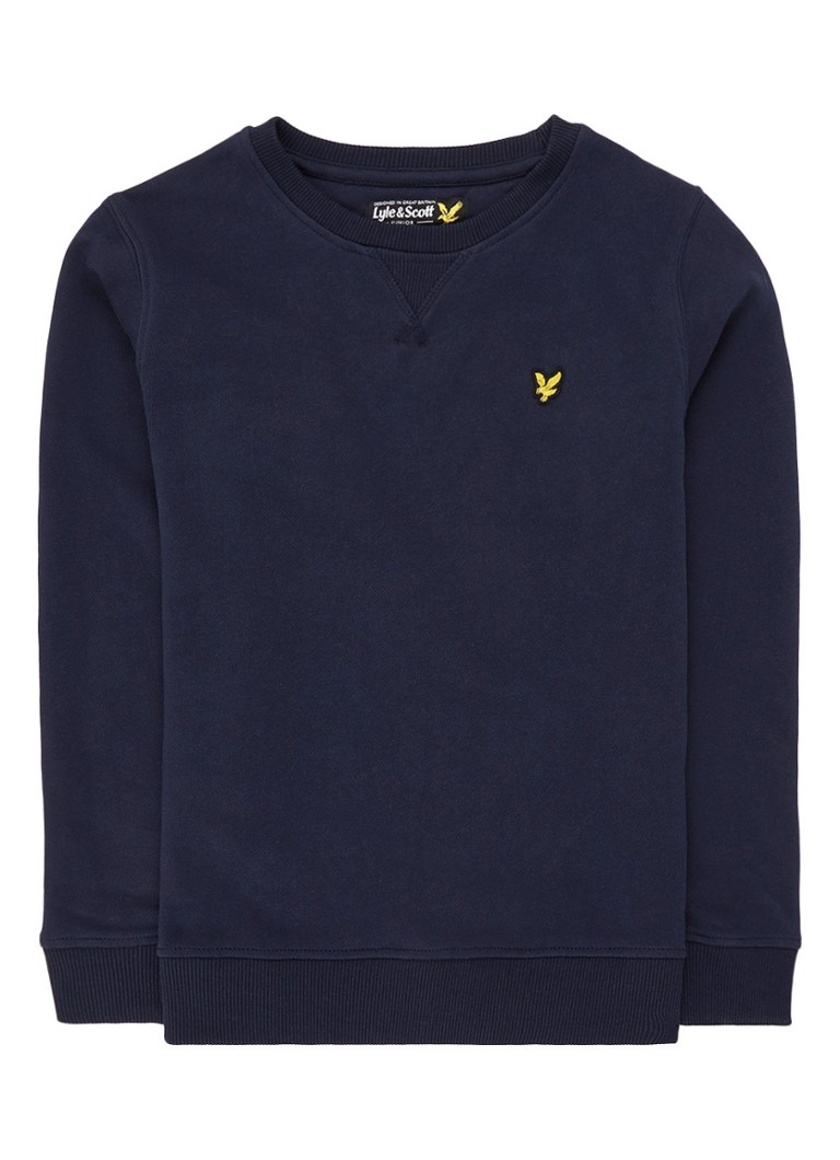 Lyle & Scott - Sweater met logopatch - Donkerblauw