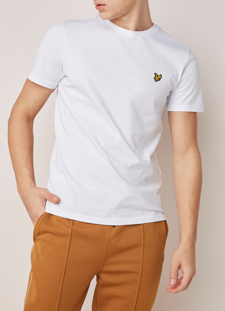 Lyle & Scott - T-shirt met merkembleem - Wit