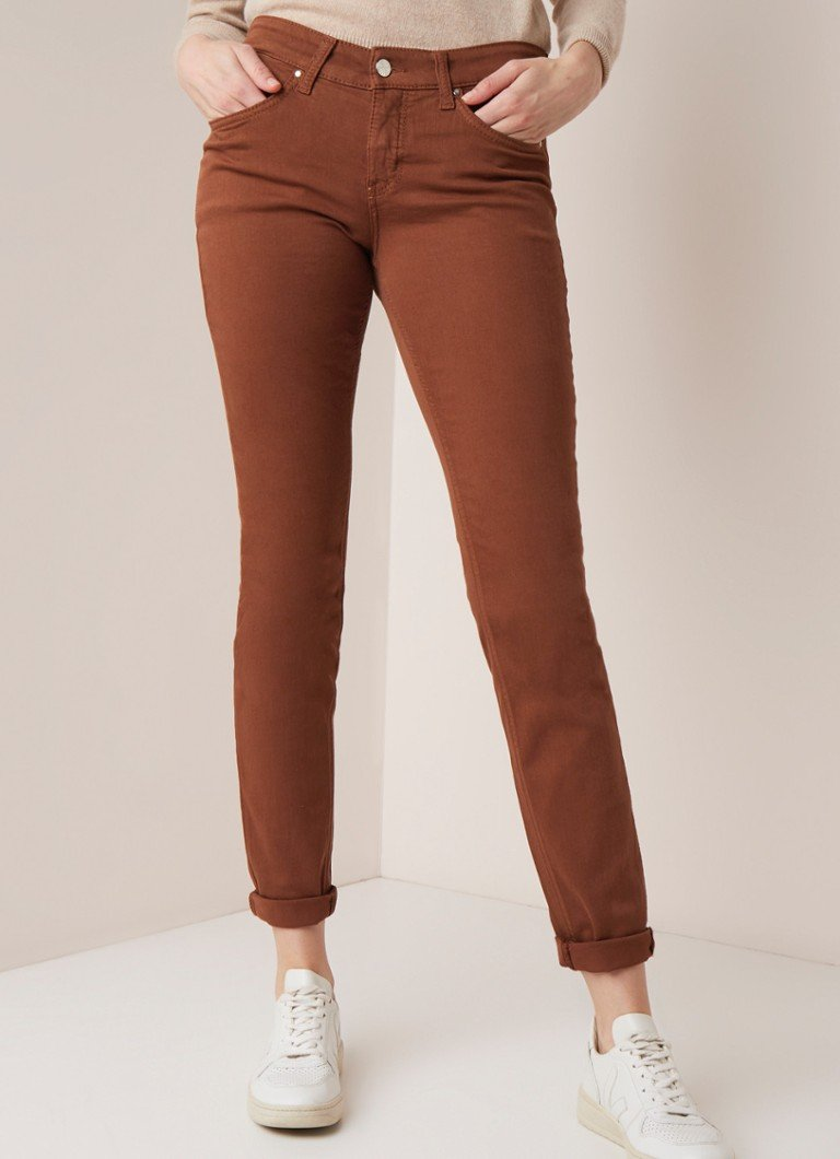 MAC - MAC Dream mid waist skinny fit jeans - Cognac