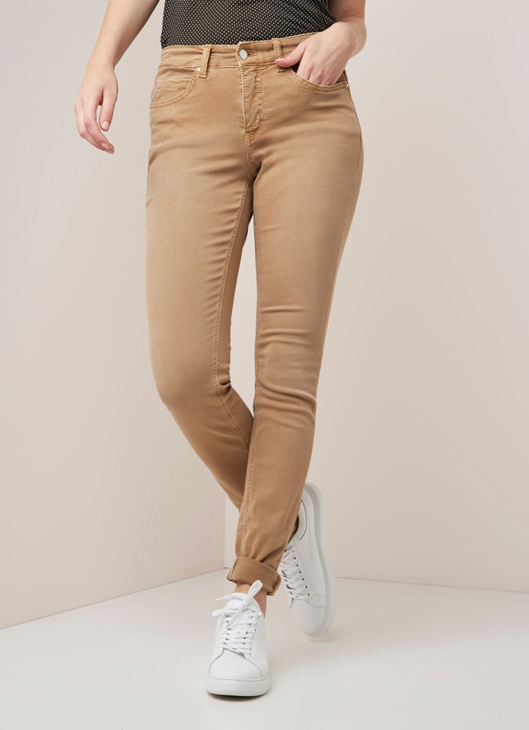 MAC - MAC High waist skinny fit jeans met stretch - Lichtbruin