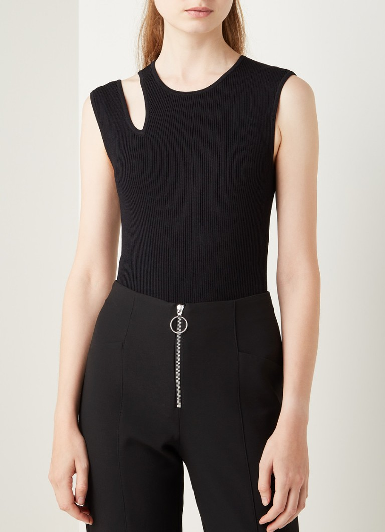 Maje - Miviana body met cut-out detail - Zwart