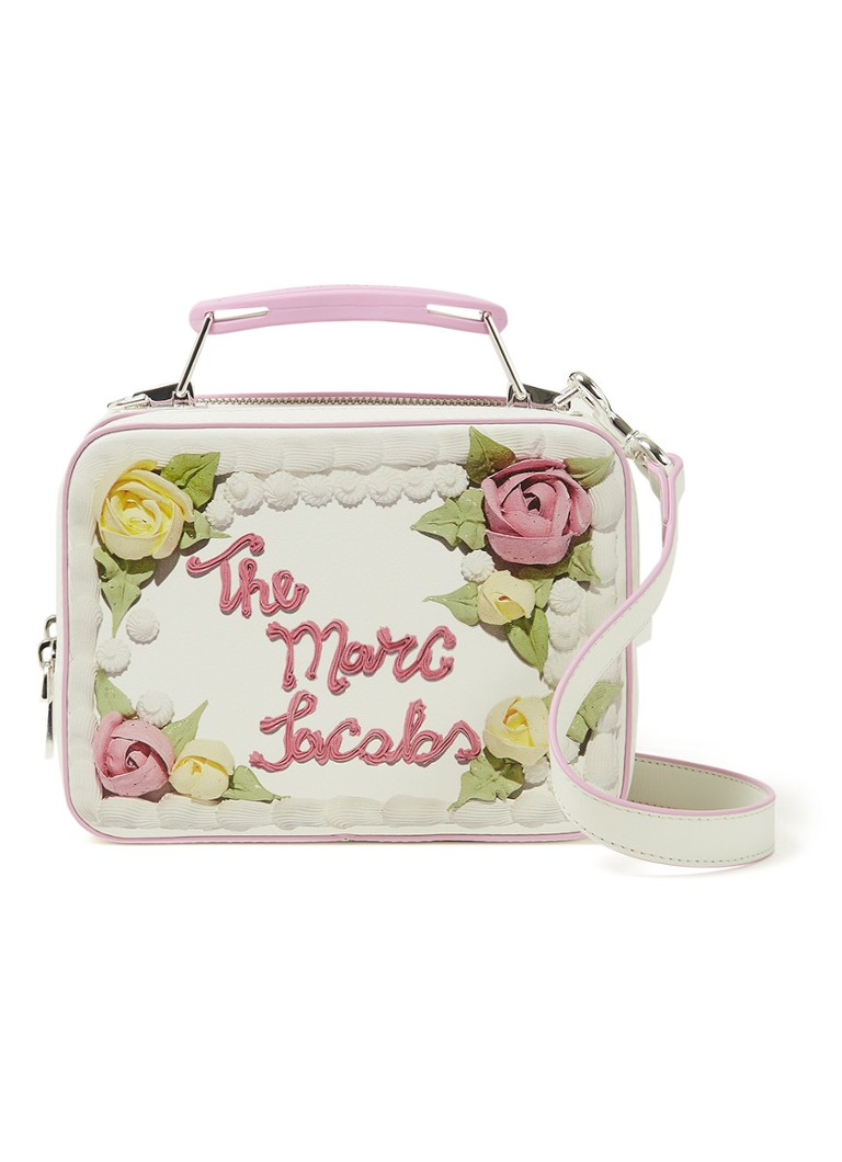 The Marc Jacobs - The Cake Mini Box crossbodytas van leer - Gebroken wit