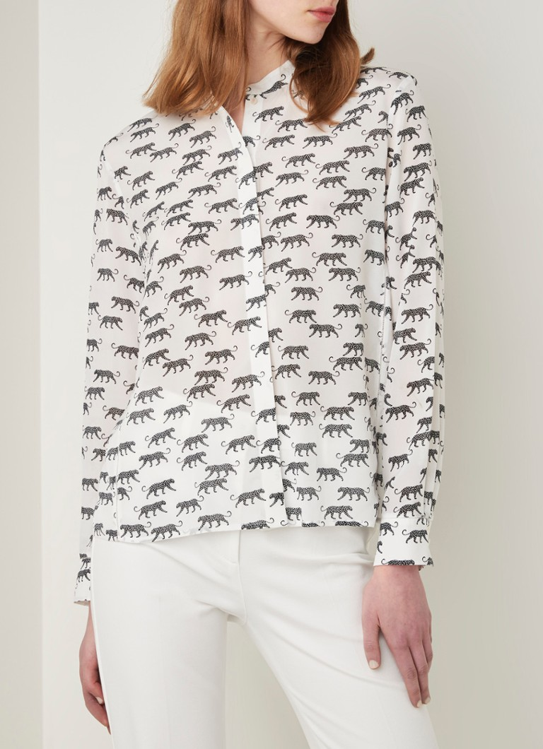MarcCain - Blouse met animal print - Wit