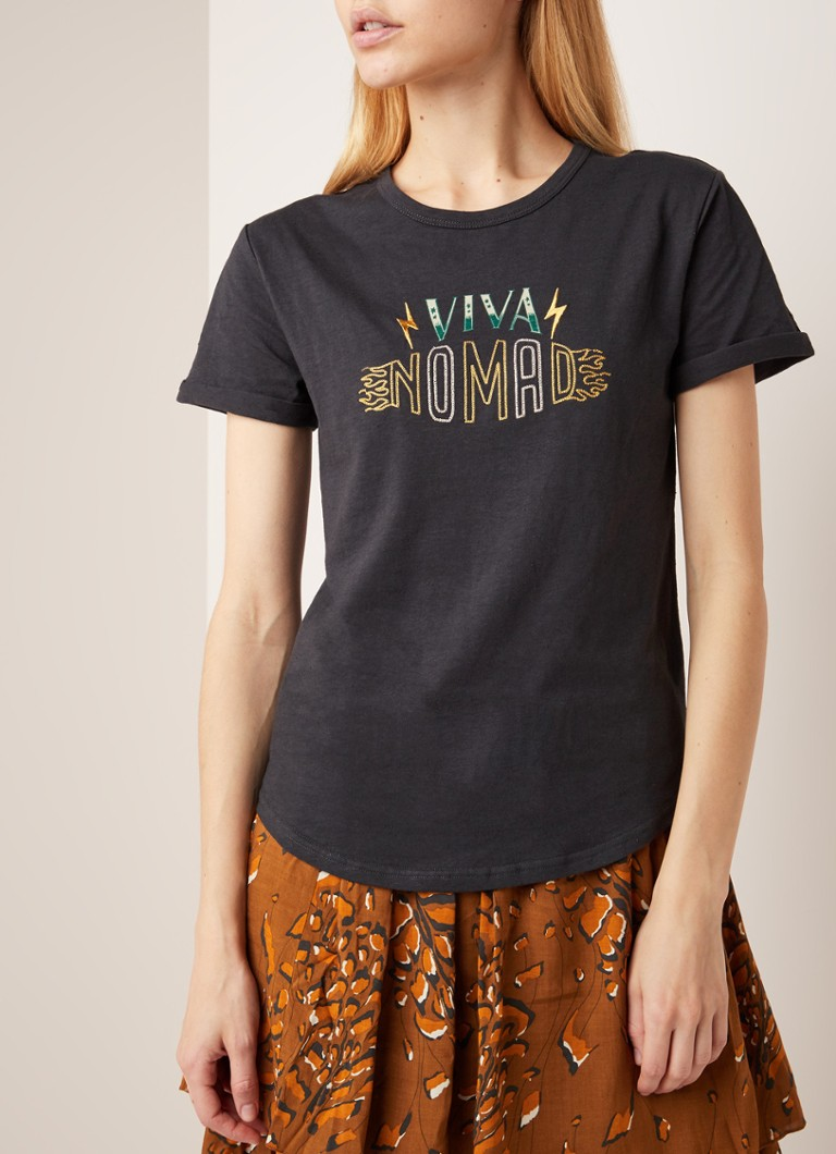 Melt - Team Nomad T-shirt met borduring - Zwart