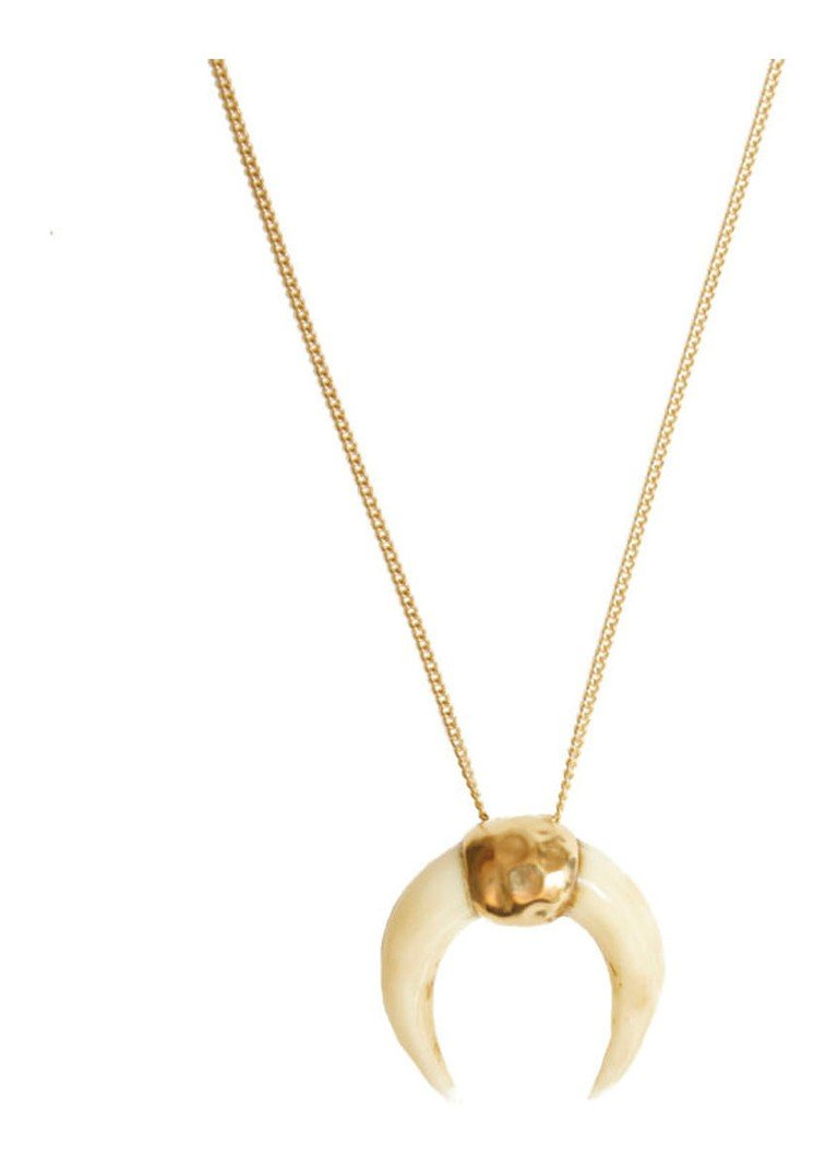 MIMI ET TOI - Lune Miracle Blanche ketting verguld - Goud