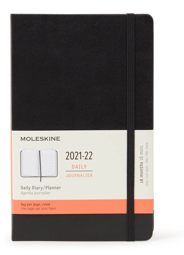Calendrier Journalier 2022 Moleskine Calendrier journalier 18 mois 2021/2022 • de Bijenkorf