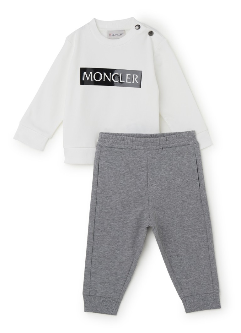 Moncler - Set van sweater en joggingbroek 2-delig - Wit