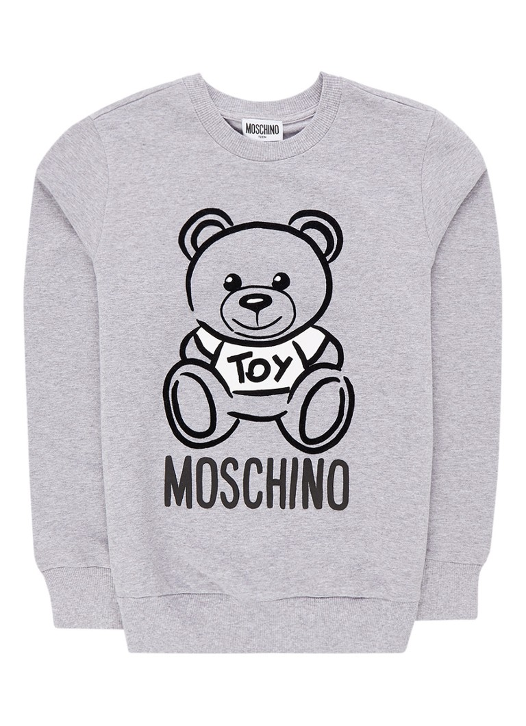 Moschino - Sweater met flockprint - Grijsmele
