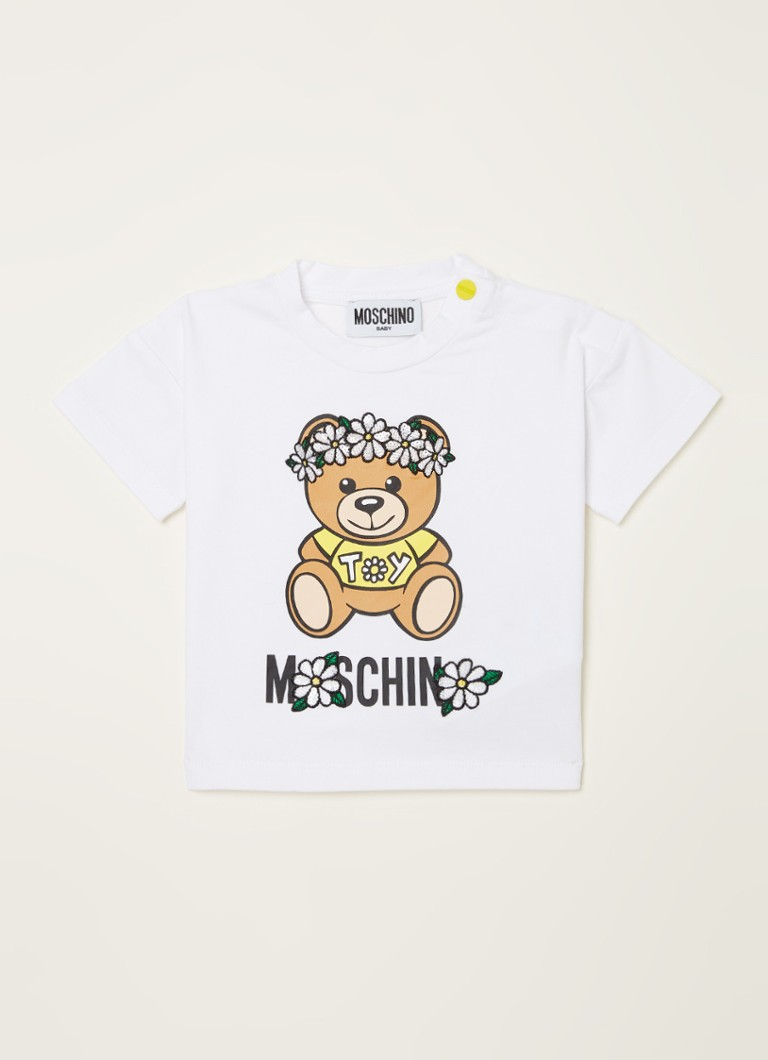 Moschino - T-shirt met frontprint  - Wit