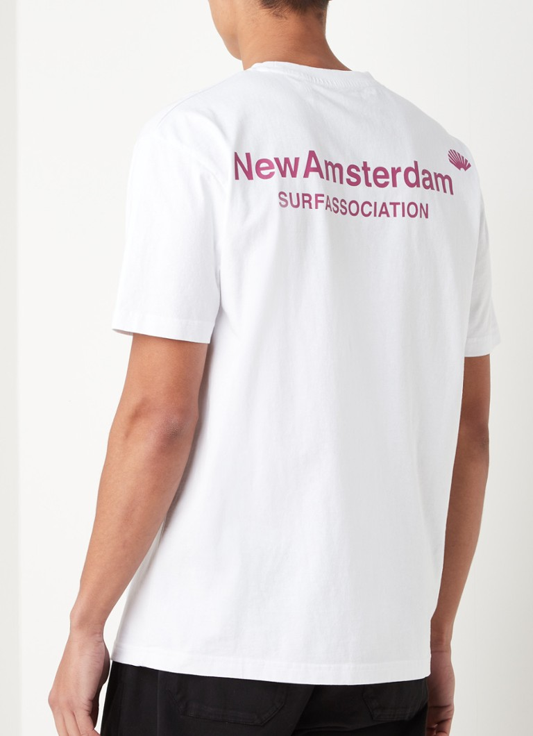 New Amsterdam Surf Association - T-shirt avec imprimé logo - Blanc
