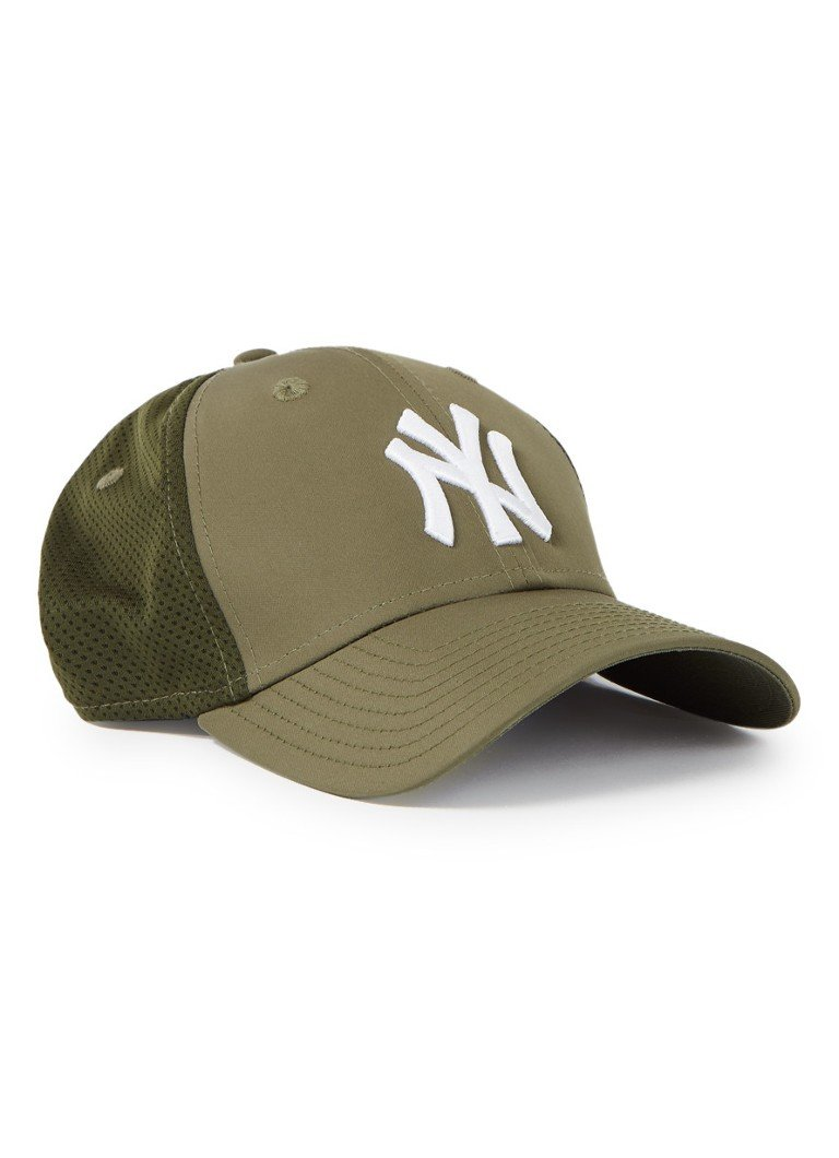New Era - Pet met mesh en logoborduring  - Legergroen