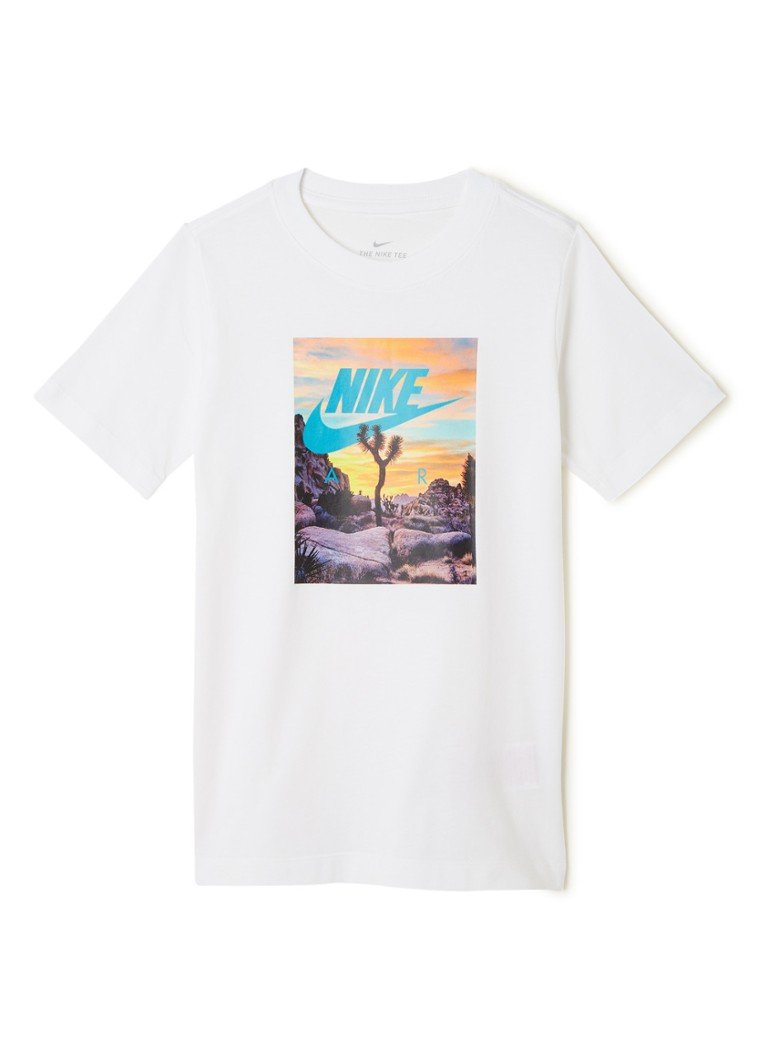 Nike - Air T-shirt met frontprint - Wit