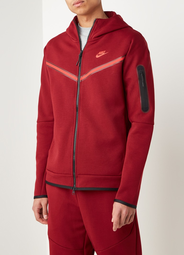Nike - Tech fleece trainingsvest met logo - Rood