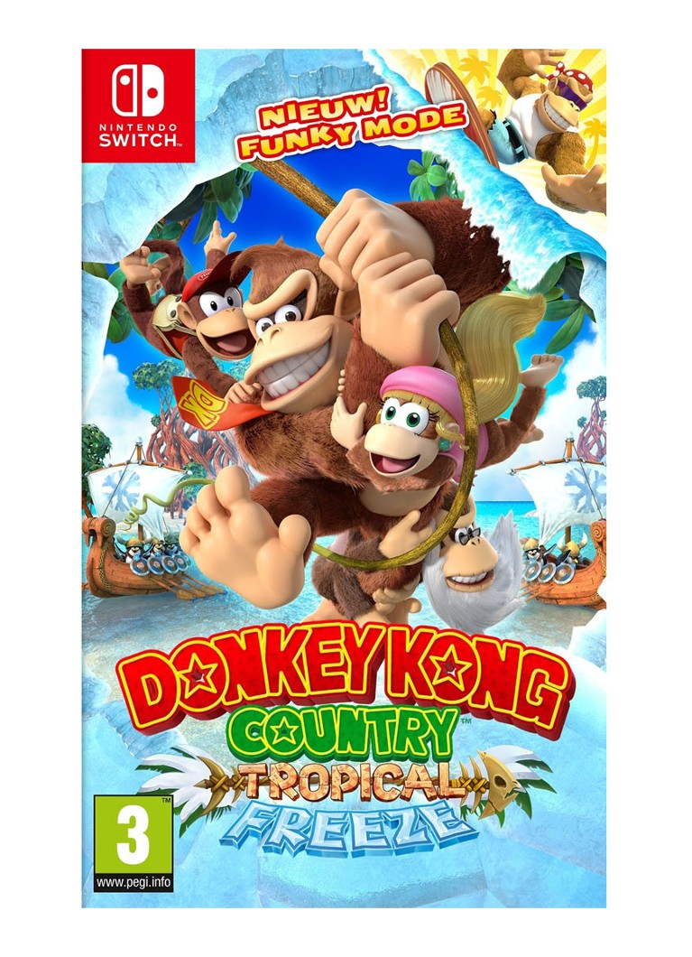 Nintendo - Donkey Kong Country Tropical Freeze - Nintendo Switch - Rood