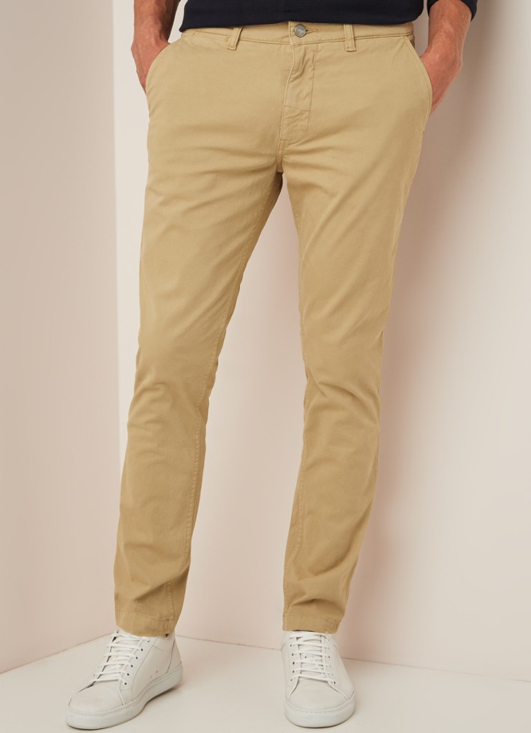 NN07 - Marco slim fit chino met stretch - Zand