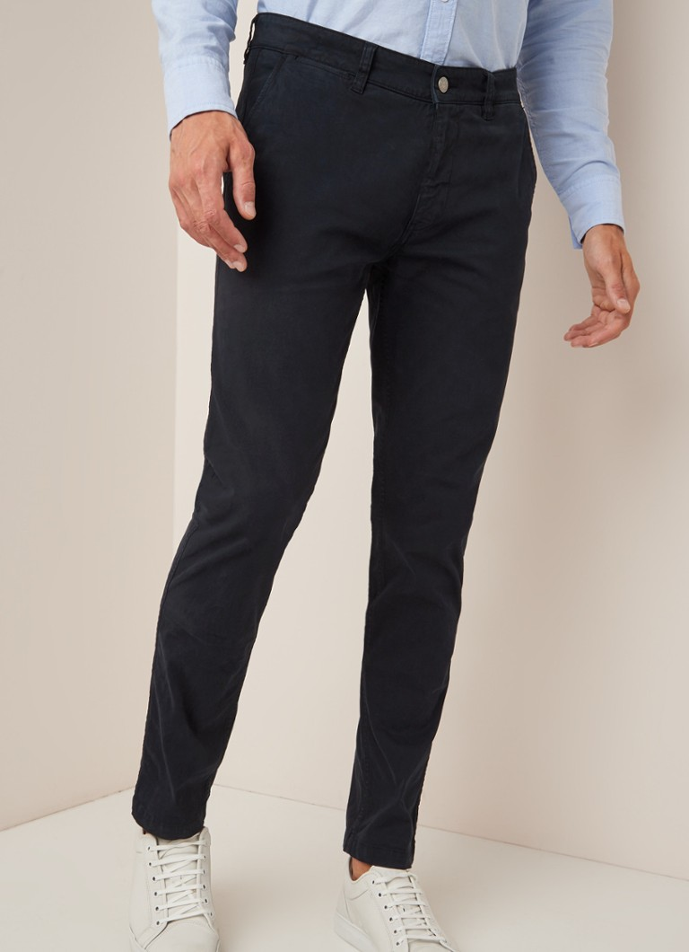 NN07 - Marco slim fit chino met stretch - Donkerblauw