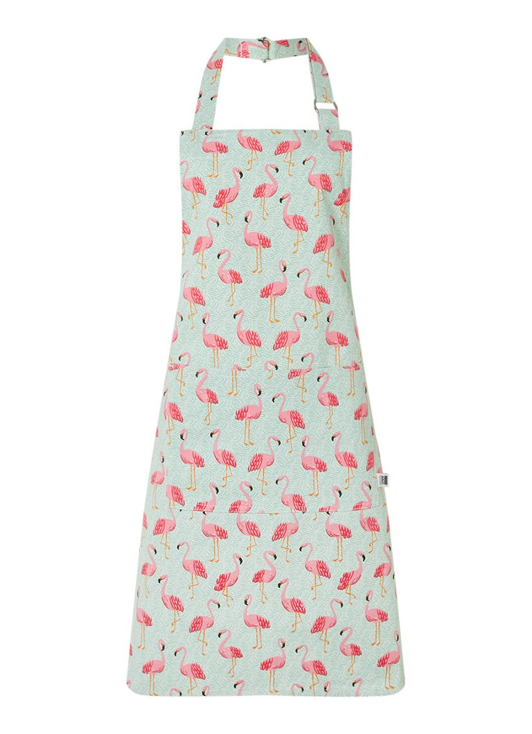 Now Designs - Flamingos Chef keukenschort - Mint
