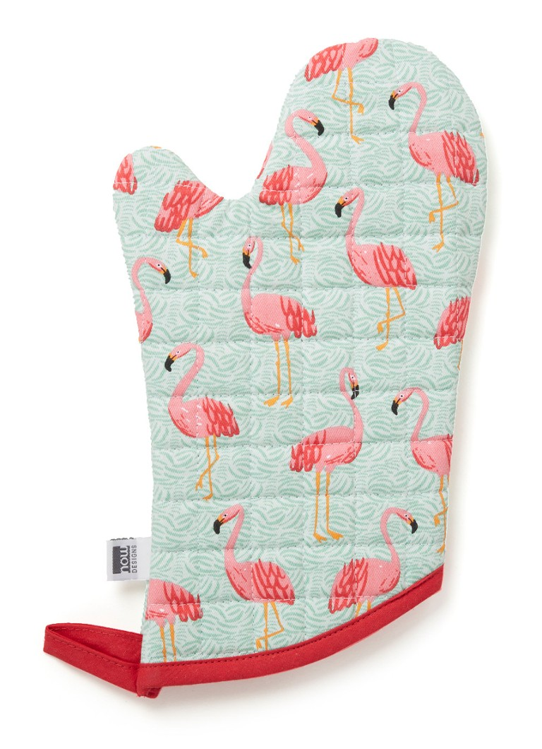 Now Designs - Flamingos ovenwant - Mint