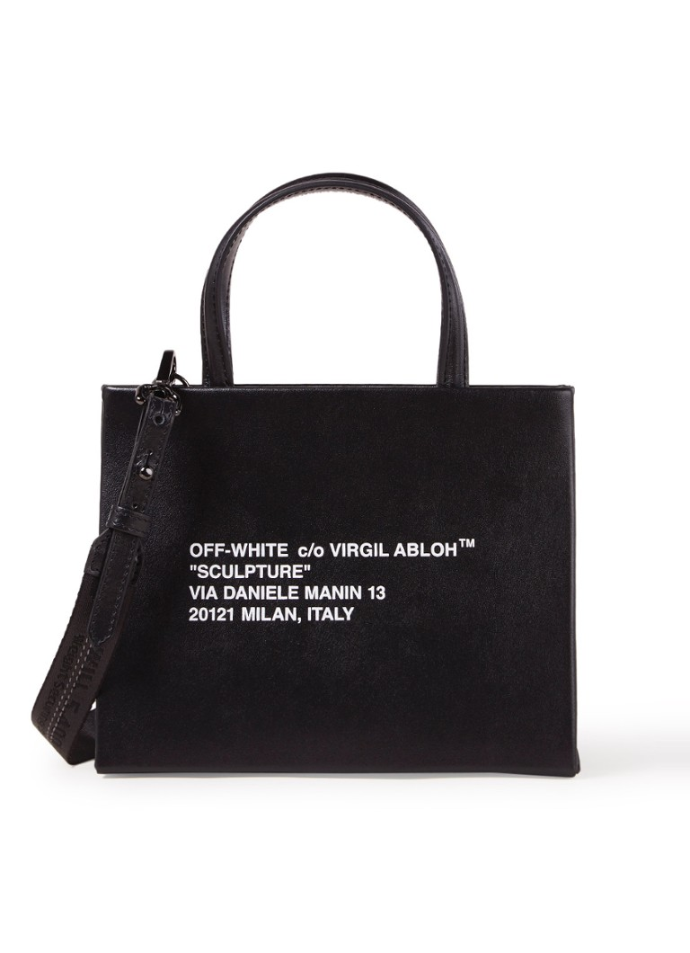 Off-White - Box Mini handtas van leer - Zwart