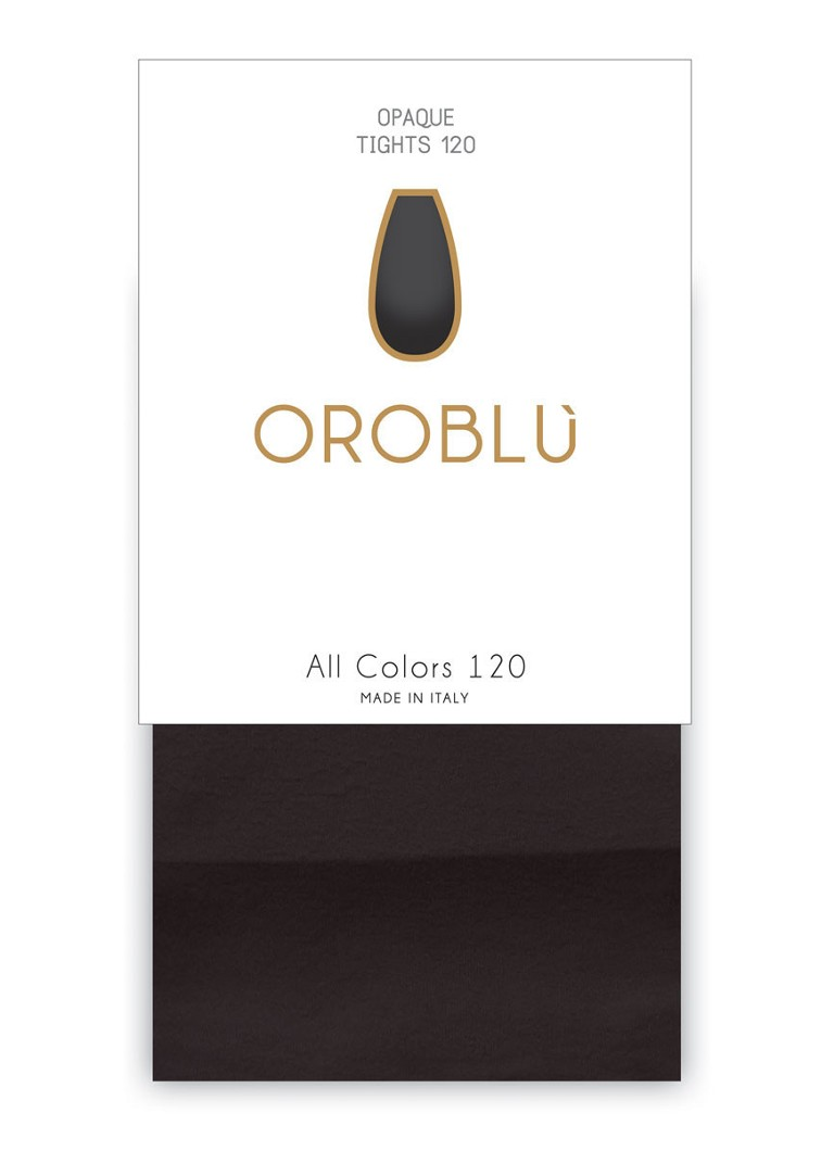 Oroblu - All Colours panty in 120 denier black - Zwart