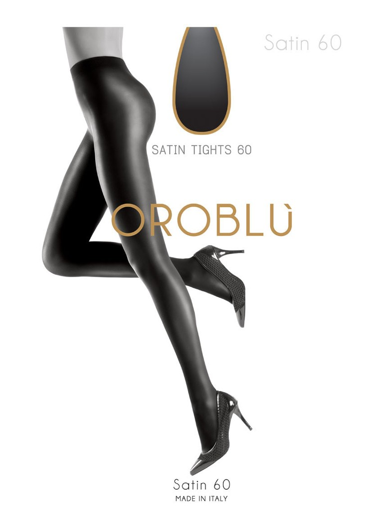 Oroblu - Satin panty in 60 denier black - Zwart