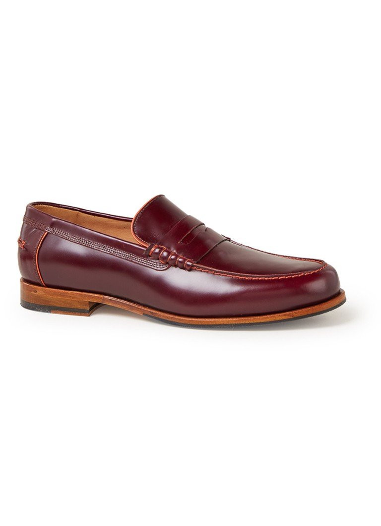 Paul Smith - Teddy loafer van kalfsleer  - Bordeauxrood