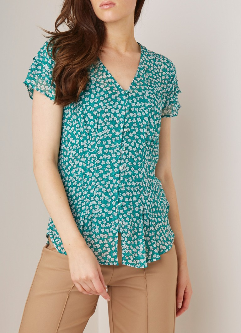 Phase Eight - Ditsy Daisy top met bloemendessin - Groen