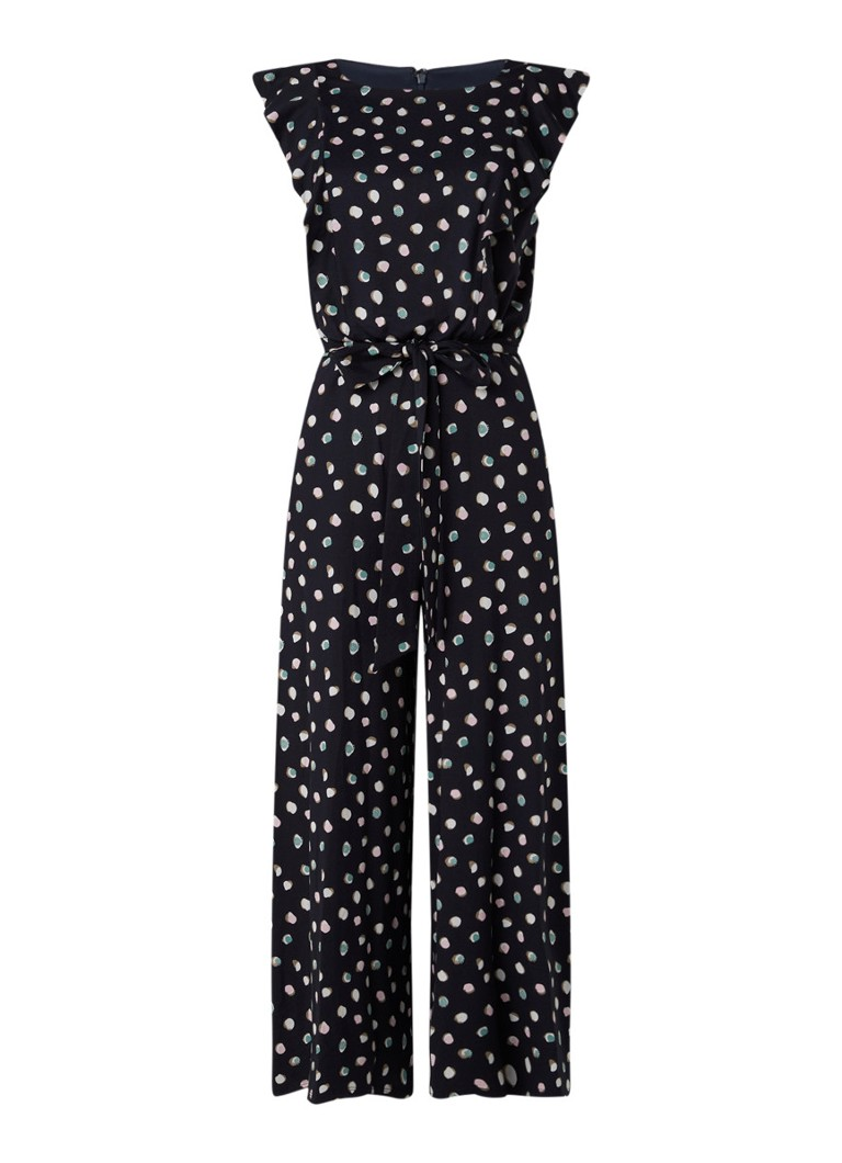 Phase Eight - Electra wide fit jumpsuit van jersey - Donkerblauw