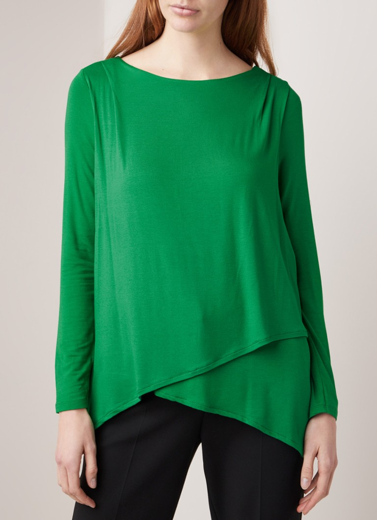 Phase Eight - Elvira asymmetrische top van jersey - Groen
