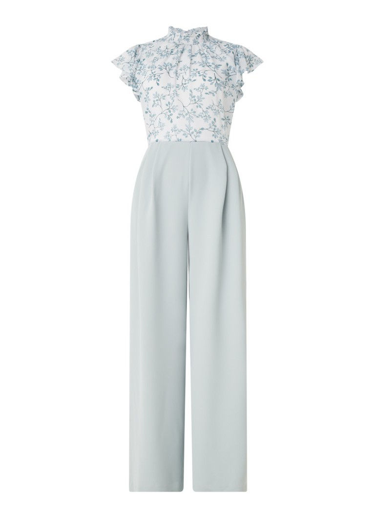 Phase Eight - Fran wide fit jumpsuit met vlindermouw - Mint