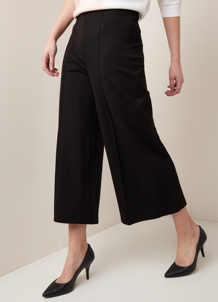Phase Eight - Lenka 7/8 culotte van jersey - Zwart