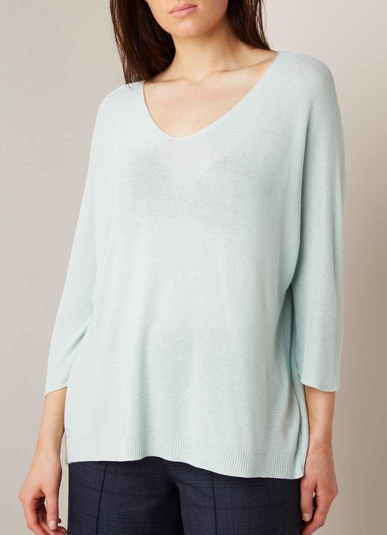 Phase Eight - Lexa loose fit top met V-hals en driekwart mouw - Mint