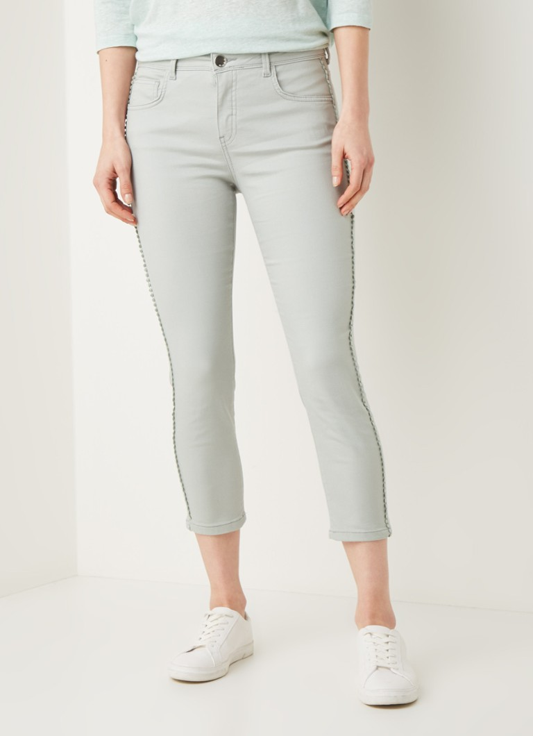 Phase Eight - Pixie Jean high waist slim fit cropped jeans - Mint