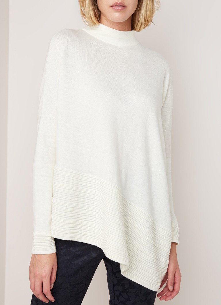 Phase Eight - Rhea asymmetrische pullover in wolblend - Creme