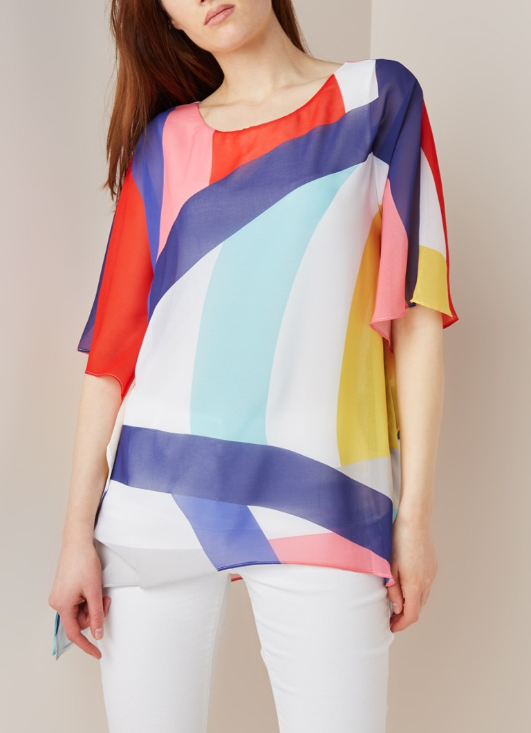Phase Eight - Sedinia loose fit top met grafisch dessin - Multicolor